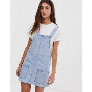 ASOS Pinny Dress Jean Skirt Overalls Large